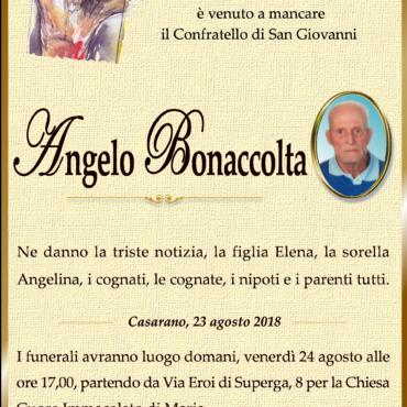 Necrologio Angelo Bonaccolta- Casarano