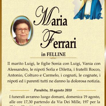 Maria Ferrari in Felline – Parabita