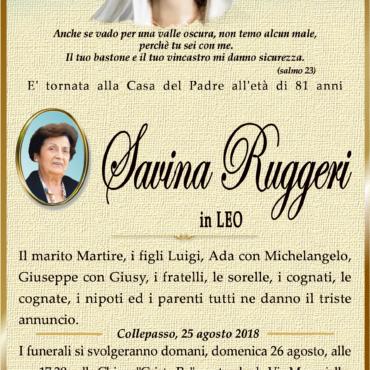 Savina Ruggeri – in Leo – Collepasso