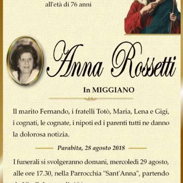 Anna Rossetti – in Miggiano – Parabita