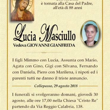 Lucia Masciullo – Vedova Giovanni Gianfreda – Collepasso