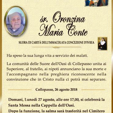 Sr. Oronzina Maria Conte – Collepasso