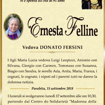 Ernesta Felline – Vedova Donato Fersini – Parabita