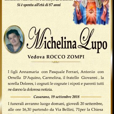 Michelina Lupo – Vedova Rocco Zompi – Casarano
