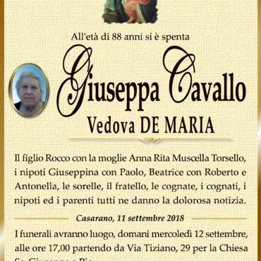 Giuseppa Cavallo – Vedova De Maria – Casarano