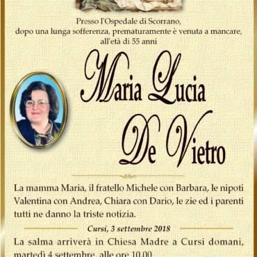 Maria Lucia De Vietro – Cursi