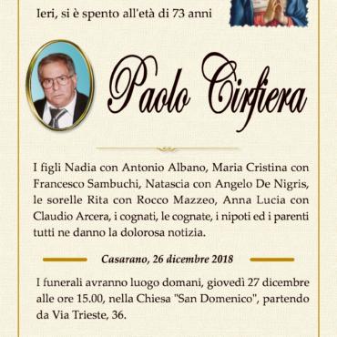 Paolo Cirfiera – Casarano