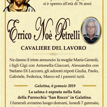 Errico Noè Petrelli – Galatina