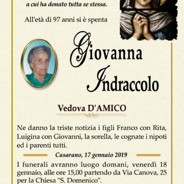 Giovanna Indraccolo – Vedova D'Amico – Casarano