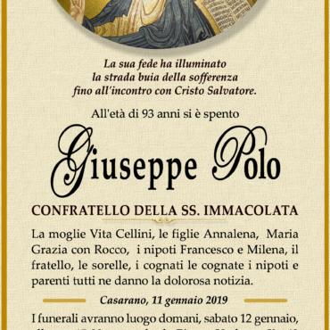 Giuseppe Polo – Confratello della SS. Immacolata – Casarano