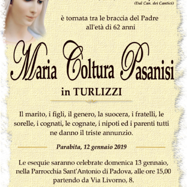 Maria Coltura Pasanisi – In Turlizzi – Parabita