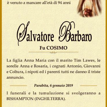 Salvatore Barbaro – Fu Cosimo – Parabita