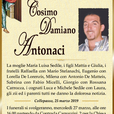 Cosimo Damiano Antonaci – Collepasso