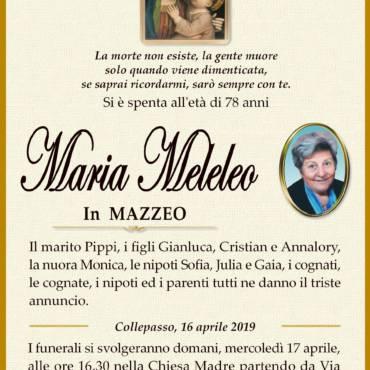 Maria Meleleo – In Mazzeo – Collepasso