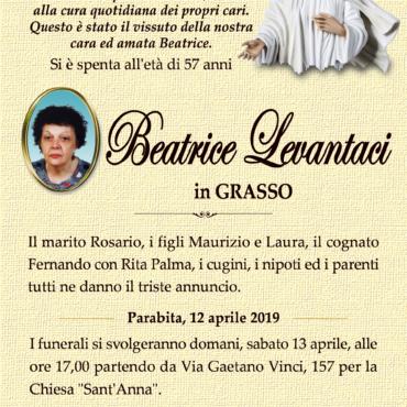 Beatrice Levantaci – In Grasso – Parabita