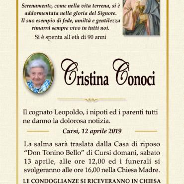 Cristina Conoci – Cursi