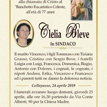 Clelia Bleve – In Sindaco – Collepasso