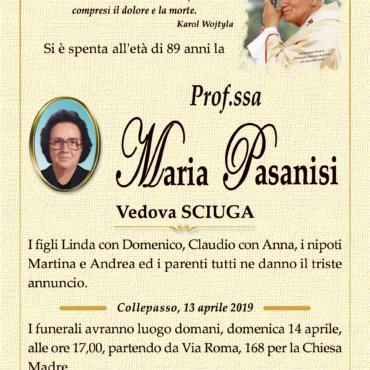 Prof.ssa Maria Pasanisi – Vedova Sciuga – Collepasso