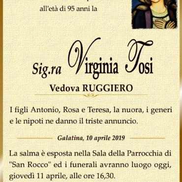 Virginia Tosi – Vedova Ruggiero – Galatina