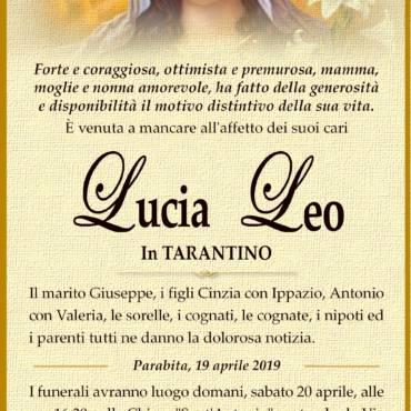 Lucia Leo – In Tarantino – Parabita