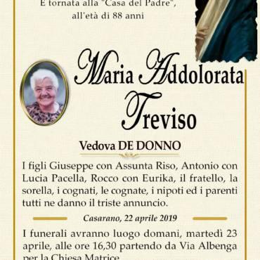 Maria Addolorata Treviso – Vedova De Donno – Casarano