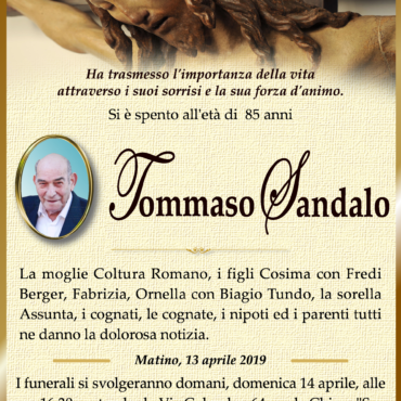 Tommaso Sandalo – Matino