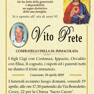 Vito Prete – Confratello della SS. Immacolata – Casarano