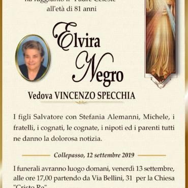 Elvira Negro – Vedova Vincenzo Specchia – Collepasso