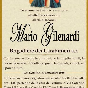 Mario Gilenardi – Brigadiere dei Carabinieri a.r. – San Cataldo
