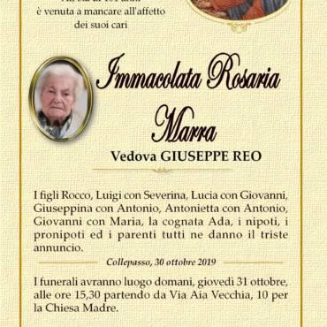 Immacolata Rosaria Marra – Vedova Giuseppe Reo – Collepasso