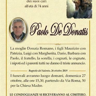 Paolo De Donatis – Bagnolo del Salento