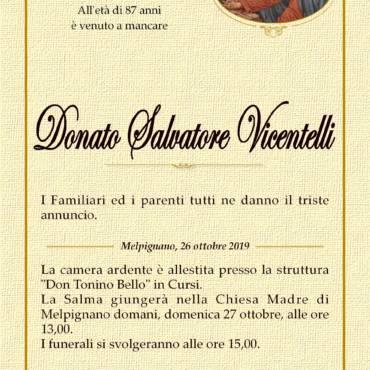 Donato Salvatore Vicentelli – Melpignano