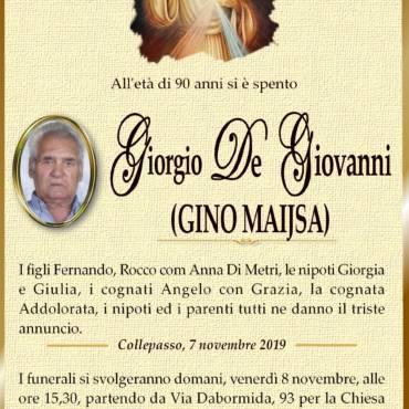 Giorgio De Giovanni – Gino Maijsa – Collepasso