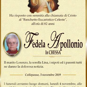 Fedela Apollonio  – in CHESSA – Collepasso