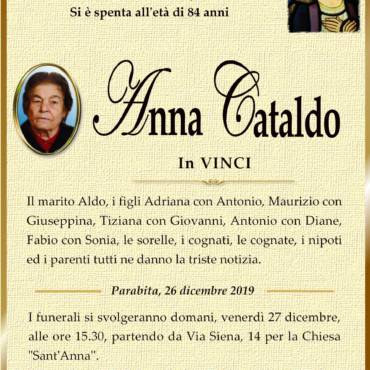 Anna – Cataldo – in Vinci – Parabita
