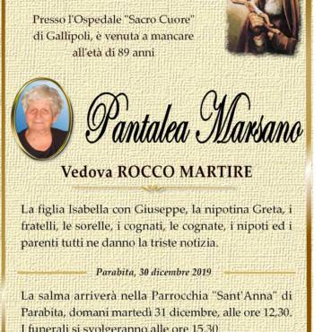 Pantalea Marsano – ved. Rocco Martire – Parabita