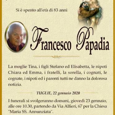 Francesco Papadia – Tuglie