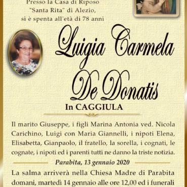Luigia Carmela De Donatis – in CAGGIULA – Parabita