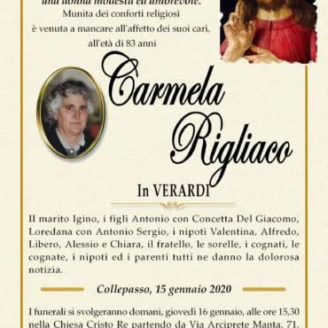 Carmela Rigliaco – in VERARDI – Collepasso