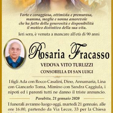 Rosaria Fracasso – Vedova Vito Turlizzi – Parabita