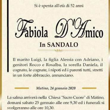 Fabiola D'Amico – In Sandalo – Matino