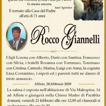 Rocco Giannelli Alliste – Parabita