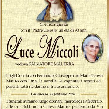 Luce Miccoli – vedova Salvatore Malerba – Collepasso