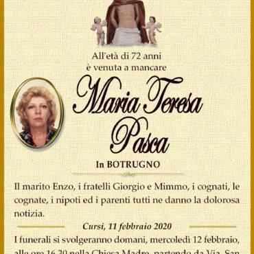 Maria Teresa Pasca – In BOTRUGNO – Cursi