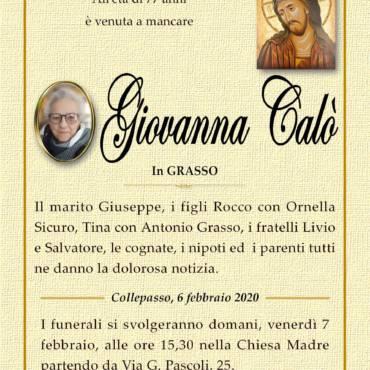 Giovanna Calò – In GRASSO – Collepasso