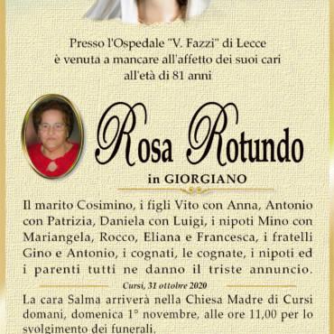 Rosa Rotundo – in Giorgiano – Cursi