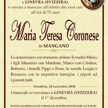 Maria Teresa Coronese – in Mangano – Parabita