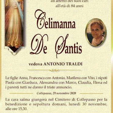 Celimanna De Santis – vedova ANTONIO TRALDI – Collepasso