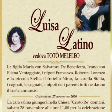 Luisa Latino – vedova TOTÒ MELELEO – Collepasso