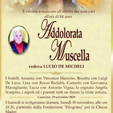 Addolorata Muscella – vedova LUCIO DE MICHELI – Casarano